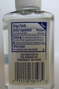 Sanitizer ingredients