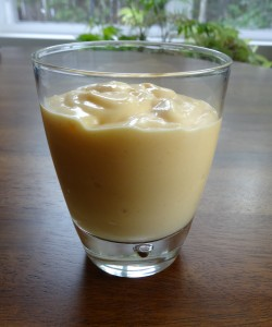 Persimmon kefir smoothie