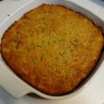 Baked cornbread dressing