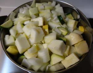 Mixed squash and onion