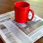 Houston Chronicle and mug